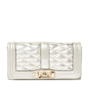 Rebecca Minkoff Mini Love Pewter Quilted Leather